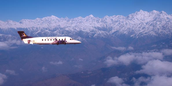 Mountain Flights  in Nepal  Region Langtang .